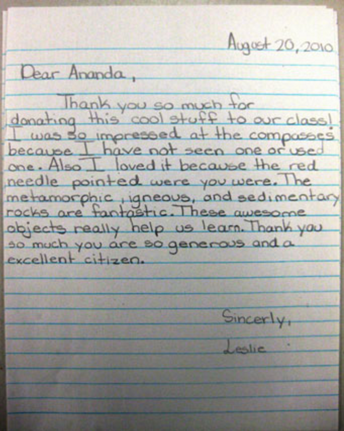 Even A Thank You Without Any Artistic Additions Can Still Pack A Punch.  This Particular Letter Has A Grammar Goofs, But The Sentiment Is Clearly  Expressed ...
